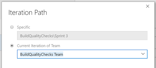 Iteration Path Picker - Team